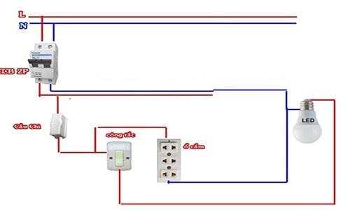 Cách lắp bảng điện 1 cầu chì