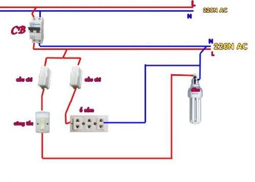 Cách lắp bảng điện 2 cầu chì