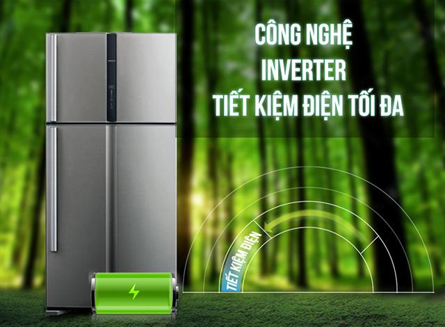 Tủ lạnh hoạt động theo công nghệ Inverter giúp tiết kiệm tối đa điện năng